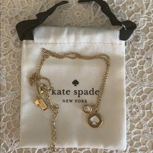 Kate Spade Gold Necklace and pouch!